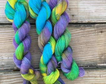 """Hand-dyed baby alpaca lace weight -""""Spring Forth"""""""
