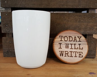Today I Will Write 20 oz Coffee Canister, Writer Gift