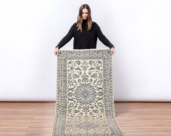 HENSLEY Persian Nain Runner (Handmade)