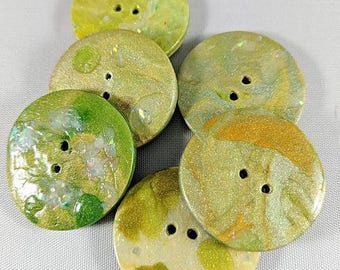 Mossy Green Flash Buttons