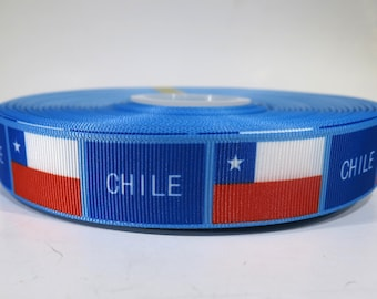 "5 yards of 7/8 inch ""Chile"" grosgrain ribbon"