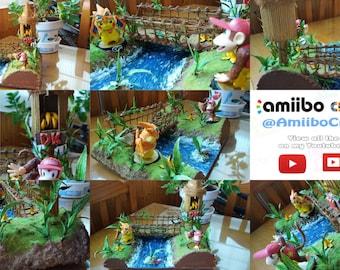 Exclusive Custom DIORAMA Display for Amiibo Jungle Donkey Kong Scenography Stand