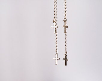 Cross earrings / Chain earrings