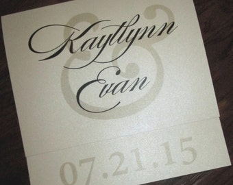 Quadratische schimmernde Hochzeitseinladung
