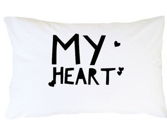 Valentine's Gift For Wife, Girlfriend, Fiance - My Heart Pillowcase - High Quality Microfiber Standard Pillow Case- Anniversary Gift For Her