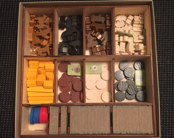 Agricola All Creatures Big and Small Wooden Board Game Insert - Fits Expansions and Base Game Organizer Uwe Rosenberg ZMan Games Quick Play