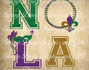 Mardi Gras svg, Nola Love svg, Nola Mardi Gras svg, silhouette, cricut, cut file, mardi gras cut file, digital file, svg, fleur de lis. bead