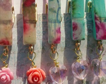 Assorted Shabby Chic Planner Clips Set Of 4