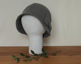 CUSTOM Brimmed Cloche Hat with Bow