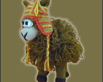 Amamani Pattern Crochet Puzzle Ball Llama Amigurumi DIY Instant Download