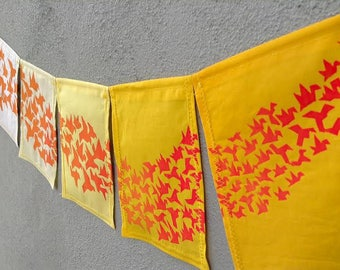 1000 Wishes Prayer Flags. One Thousand Cranes, One Thousand Well-Wishes Prayer Flags.
