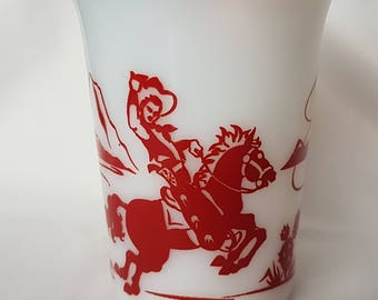 1950s Hazel Atlas Western Child's Cup / Tumbler Excellent Condition; Vintage