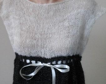 Handspun  handknit alpaca top