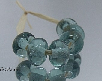 Blue Grey, Artisan Lampwork Glass Beads, SRA, UK