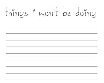 Things I Won't Be Doing Notepad