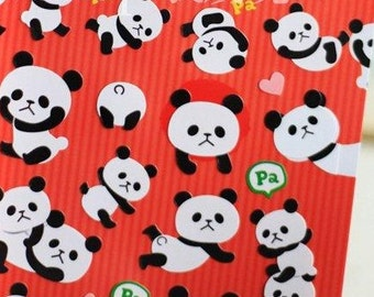Cute Panda Stickers 1 Sheet