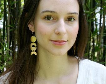Geometric Earrings, Bold Earrings, Circle Earrings, Statement Earrings, Minimalist Jewelry, Gift for Her, BREE