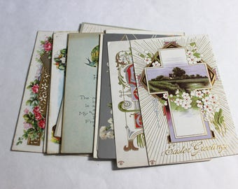 10 Antique Easter Unused Blank Postcards - Vintage Easter Crafts, Scrapbooking, Holiday Decor