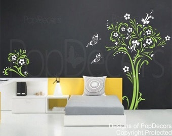 """On Sale - Totem Tree (57""""H) - Decals Stickers Murals Vinyl Wall Art Home Decors by PopDecors"""