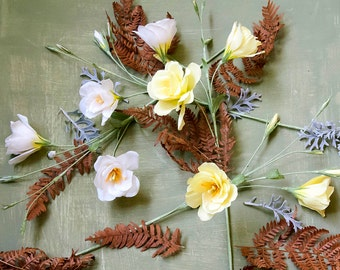 Eustoma bouquet Paper flowers, Paper wedding decor, Paper Eustoma, Eustoma  decor, paper decor, Lisianthus