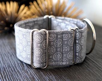 Martingale collar, Greyhound Collar, Galgo Collar, Saluki Collar, Sighthound Collar, Geometric Collar, Grey Martingale, Cotton Dog Collar