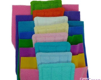 10 TERRY & TERRY Swiffer mop pads, Reusable Swiffer mopping pads, Washable Swiffer Sweeper mop Pad EcoGreen Pads. Both Sides are Terry Cloth