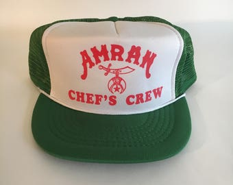 Vintage Amran Shriners Chef's Crew Trucker Hat