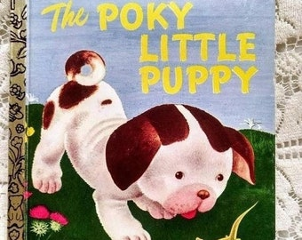 Spring SALE 20% OFF The Poky Little Puppy, 1970s A Little Golden Book, children's collectible book