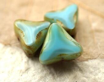 Bermuda Triangle,  Czech Beads, Beads