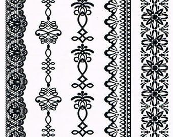 Temporary tattoos Black Lace YHB010 21 X 14.5 CM