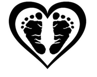 Footprints Heart