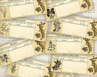 The Natural Apothecary Test Tube Labels herbs spices lotion beauty homemade products crafting hobby craft scrapbooking - VDAPVI1110