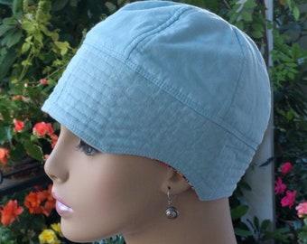 Chemo Hat Hair Loss Cap Cancer Hat Alopecia Hat Reversible  MEDIUM
