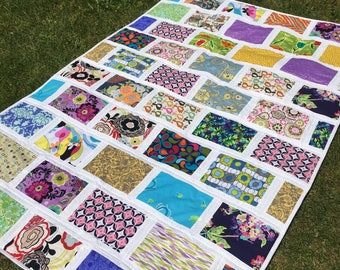 READY TO SHIP Patchwork quilt, hand made, Classic quilt , twin size ,cotton blanket ,53 x 77 inch