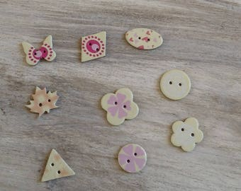 Cardboard shaped button embellishment