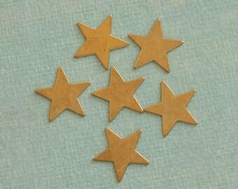 SALE 6 Brass Star Findings 2335
