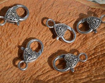 heart pattern 10 clasps