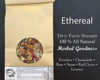 Ethereal: Herbal Facial Steam-Dry Skin-Steam for Inflammation-Organic Skincare-Natural Beauty-Soothing Steam-Soothing Skincare-Spa At Home
