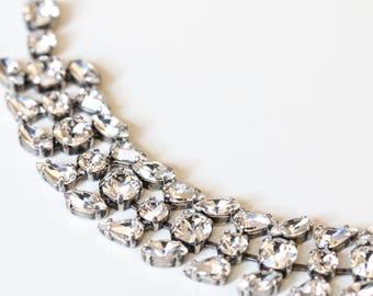 SALE Antique Silver Bridal Bracelet, Bridal jewelry, Wedding jewelry, Swarovski Crystal, Wedding accessories, Bridesmaid