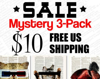 SALE - Collage-O-Rama Mystery 3-Pack 10 Dollars with Free Domestic Shipping