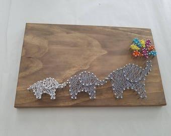 String Art Kit-Elephant family
