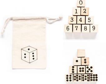 Wood Number Blocks / Wood Baby Blocks / Wood Blocks / Baby Blocks / Number Blocks / Natural Wood Blocks
