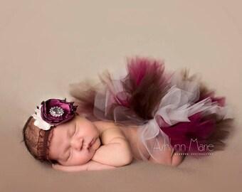Newborn Tutu Set, Baby Tutu, Tutu, Tutu Set, Fall Tutu, Autumn Tutu, Baby Tutu Set, Tutu and Matching Headband, Photo Prop, Newborn Tutu,