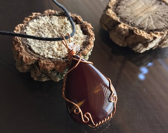 Mookaite and Herkimer Diamond Necklace, Mookaite Necklace