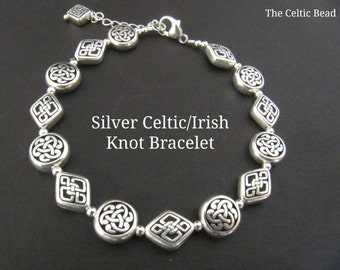 Silver Celtic/Irish Knot Bracelet