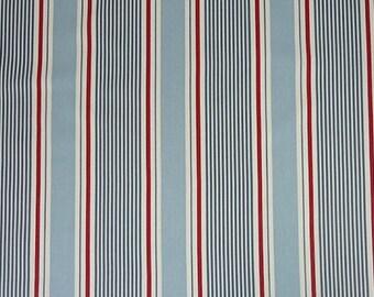 English fabric Clarke and Clarke Sail stripe Navy