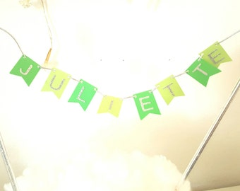 Mini cake wreath - personalized first name-straws and silver stars