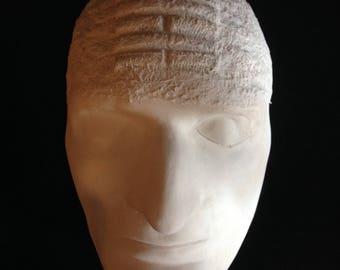 Plaster Death  Mask - Crainology - Phrenology Sculpture
