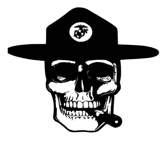 USMC vinyl, Marine Decal Sticker, Veteran Drill Instructor, cup decals, EGA decal for tumbler, Drill Instructor decals, USMC Drill Gifts