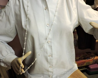 Clear Glass Long Necklace .... Instead of wearing nothing at all ...  about 40 inches long